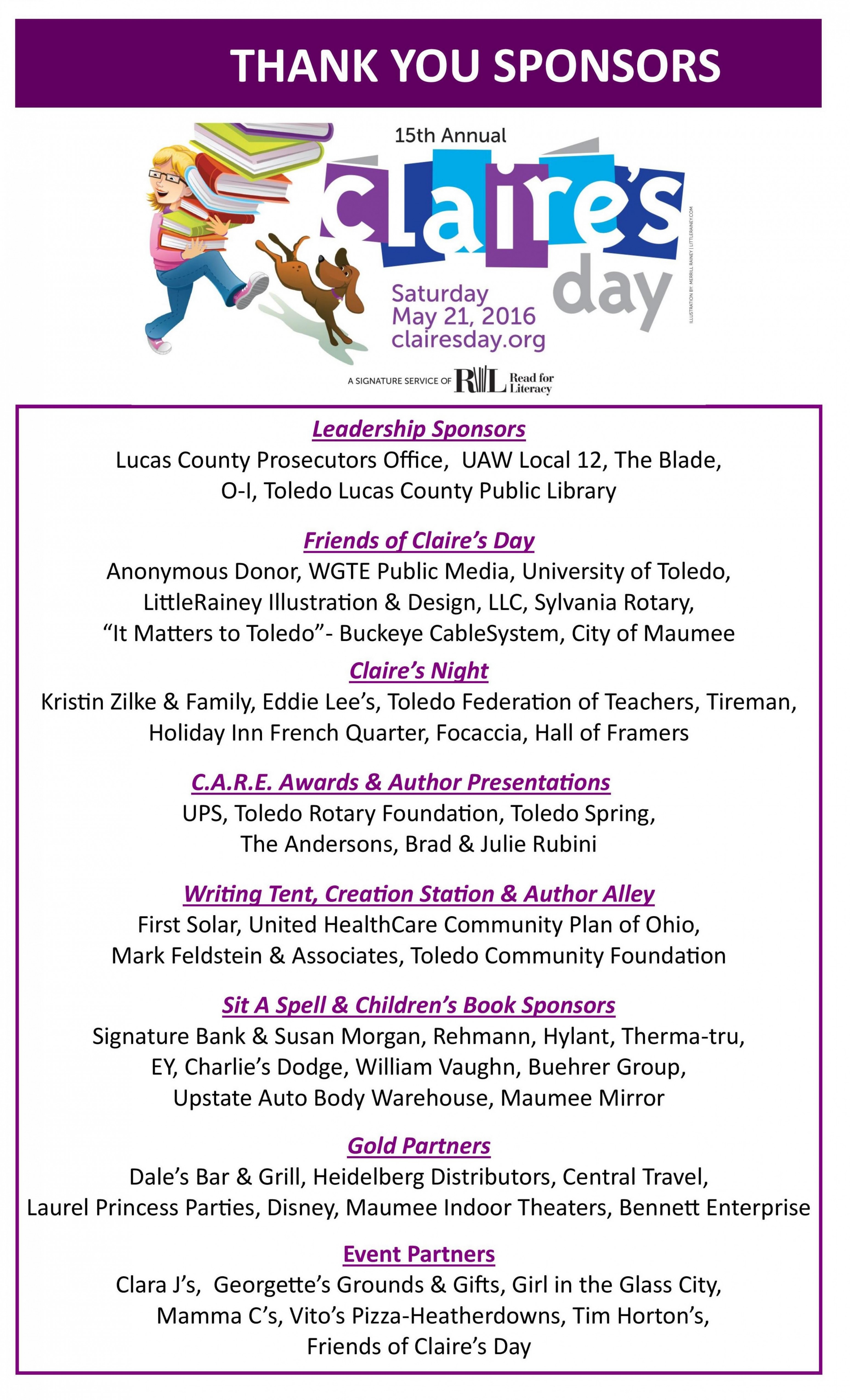 Ohio lucas county maumee - We Want To Offer A Special Thank You To Our Sponsors Please Support These Businesses